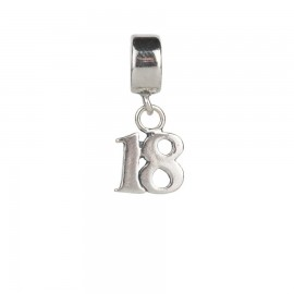 Bead charm 18 anni in argento