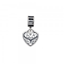 Bead charm in argento cuore
