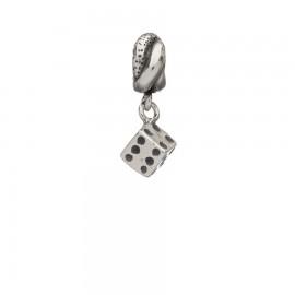 Bead in argento con dado pendente