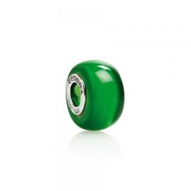 Bead vetro verde smeraldo