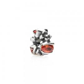 Bead fiori e zirconi in argento