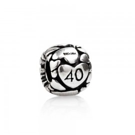 Bead 40 anni in argento