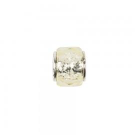 Bead in vetro e argento cristalli di vetro champagne