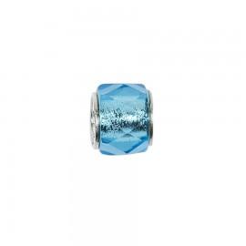 Bead in vetro e argento cristalli di vetro blu