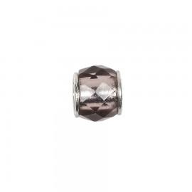 Bead in vetro e argento cristalli di vetro viola