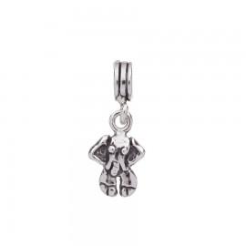 Bead charm in argento elefante