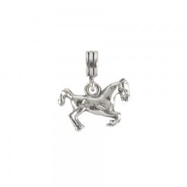Bead charm in argento cavallo