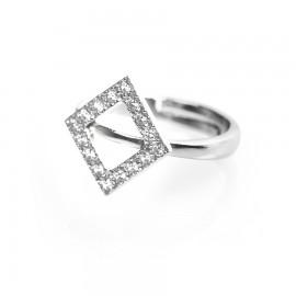 anello con rombo