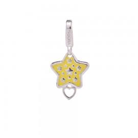 Charm stella smaltata gialla
